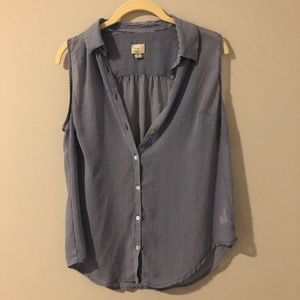 A new day medium sheer top button up